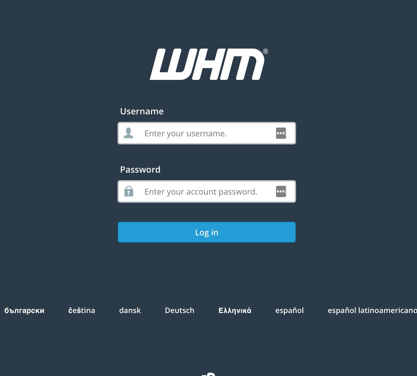 WHMlogin